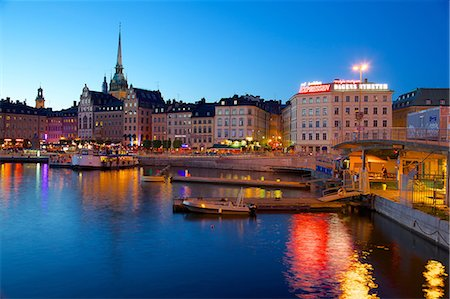 stockholm - Gamla Stan at dusk, Riddarholmen, Stockholm, Sweden, Scandinavia, Europe Stock Photo - Rights-Managed, Code: 841-06502882