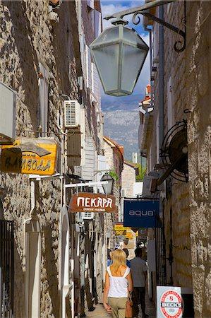 Narrow street, Old Town, Budva, Montenegro, Europe Stock Photo - Rights-Managed, Code: 841-06502903