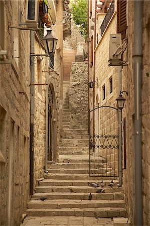 Narrow street, Old Town, Kotor, UNESCO World Heritage Site, Montenegro, Europe Stock Photo - Rights-Managed, Code: 841-06502981