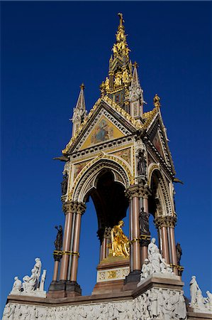 Albert Memorial, Kensington Gardens, London, England, United Kingdom, Europe Stock Photo - Rights-Managed, Code: 841-06503366