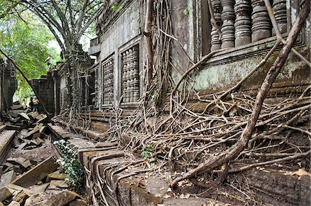 Ta Prohm Temple, Angkor, UNESCO World Heritage Site, Siem Reap, Cambodia, Indochina, Southeast Asia, Asia Stock Photo - Rights-Managed, Code: 841-06503420