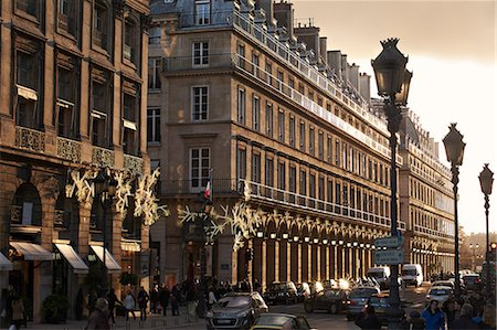 french - Sunset on Rue de la Paix, Paris, France, Europe Stock Photo - Rights-Managed, Code: 841-06503436