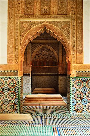 Saadian Tombs, Medina, Marrakesh, Morocco, North Africa, Africa Stock Photo - Rights-Managed, Code: 841-06616475