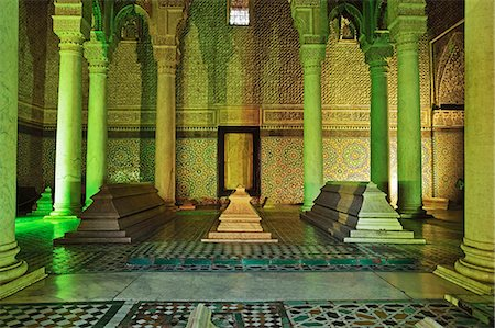 Saadian Tombs, Medina, Marrakesh, Morocco, North Africa, Africa Stock Photo - Rights-Managed, Code: 841-06616478