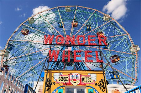 Denos Wonder Wheel, Amusement Park, Coney Island, Brooklyn, New York City, United States of America, North America Stock Photo - Rights-Managed, Code: 841-06616644