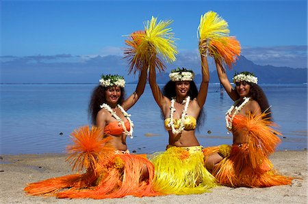 french polynesia - Some vahines from the Tahiti ora troupe, French Polynesia, Pacific Islands, Pacific Stock Photo - Rights-Managed, Code: 841-06616754