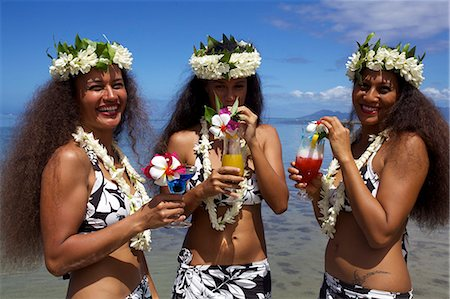 french polynesia - Some vahines from Tahiti Ora  in Tahiti, Society Islands, French Polynesia, Pacific Islands, Pacific Stock Photo - Rights-Managed, Code: 841-06616755