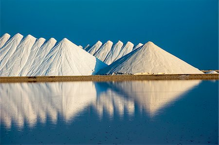 salt - Saline plains, a salt mine in Bonaire, ABC Islands, Netherlands Antilles, Caribbean, Central America Stock Photo - Rights-Managed, Code: 841-06616778