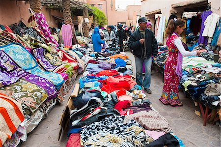 Clothes stalls in the souks of the old Medina of Marrakech, Morocco, North Africa, Africa Stock Photo - Rights-Managed, Code: 841-06804567