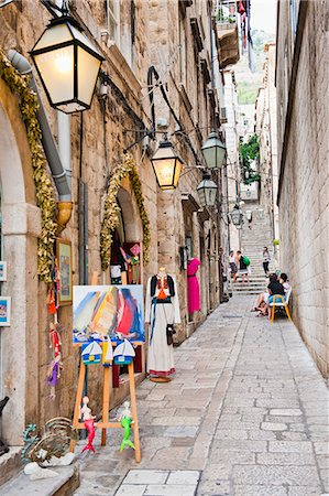 Dubrovnik Old Town, one of the narrow side streets, Dubrovnik, Croatia, Europe Stock Photo - Rights-Managed, Code: 841-06804846