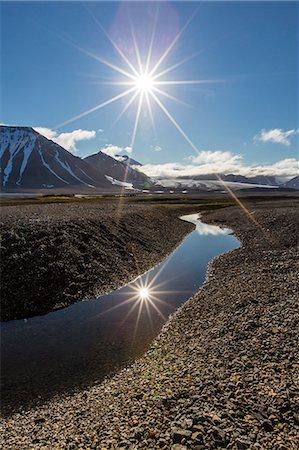 stream - Gashamna (Goose Bay), Hornsund, Spitsbergen Island, Svalbard Archipelago, Norway, Scandinavia, Europe Stock Photo - Rights-Managed, Code: 841-06805161