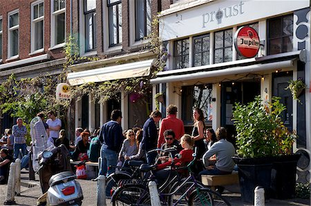 exterior bar - Bar with people drinking, Amsterdam, Netherlands, Europe Stock Photo - Rights-Managed, Code: 841-06805229
