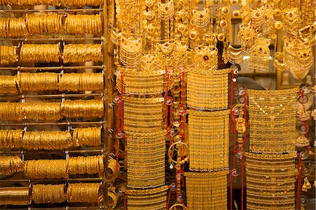 Gold souk, Dubai, United Arab Emirates, Middle East Stock Photo - Rights-Managed, Code: 841-06805297