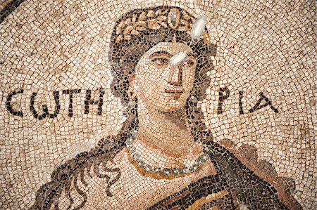 Soteria Roman mosaic, 5th cent AD, Hatay Archaeology Museum, Antioch, Hatay province, Southwest Turkey, Anatolia, Turkey, Asia Minor, Eurasia Stock Photo - Rights-Managed, Code: 841-06805394