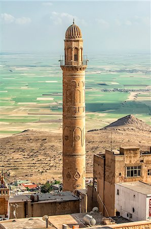 Sehidiye mosque minaret, Mardin, Anatolia, Eastern Turkey, Asia Minor, Eurasia Stock Photo - Rights-Managed, Code: 841-06805425