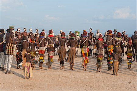 Nyangatom (Bumi) tribal dance ceremony, Omo River Valley, Ethiopia, Africa Stock Photo - Rights-Managed, Code: 841-06805464