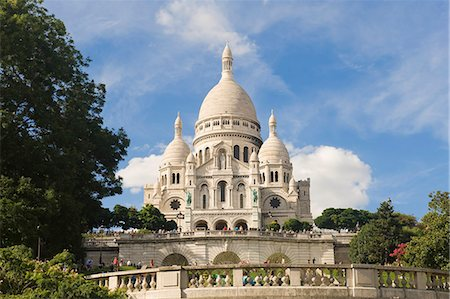 Basilica Sacre Coeur, Montmartre, Paris, France, Europe Stock Photo - Rights-Managed, Code: 841-06805500