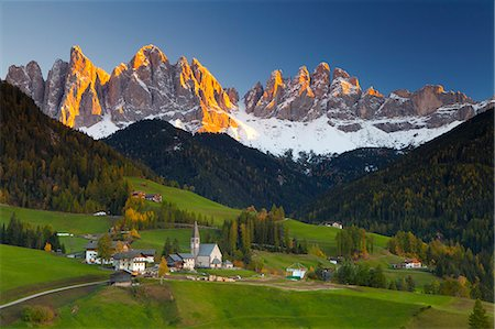 St. Magdalena, Val di Funes, Trentino-Alto Adige, Dolomites, South Tyrol, Italy, Europe Stock Photo - Rights-Managed, Code: 841-06805545