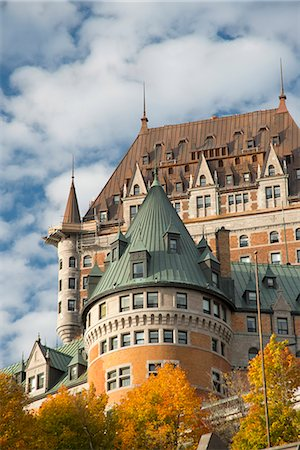 A view of the Chateau Frontenac, Quebec City, Quebec Province, Canada, North America Stock Photo - Rights-Managed, Code: 841-06805621