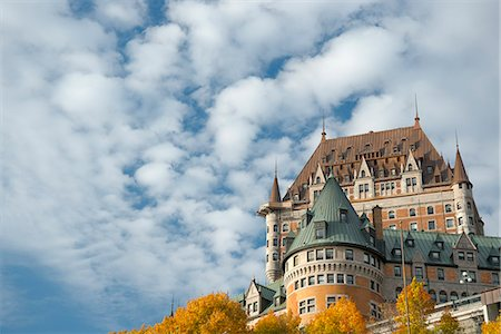 A view of the Chateau Frontenac, Quebec City, Quebec Province, Canada, North America Stock Photo - Rights-Managed, Code: 841-06805622