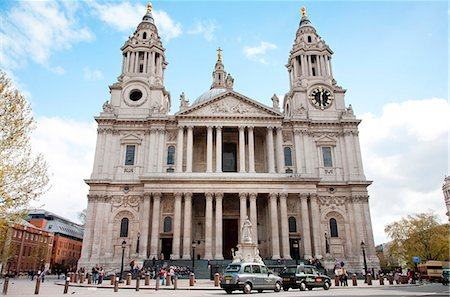 St. Paul's Cathedral entrance, London, England, United Kingdom, Europe Stock Photo - Rights-Managed, Code: 841-06805788