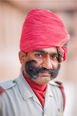 Man in red head dress, Jodhpur, Rajasthan, India, Asia Stock Photo - Rights-Managed, Code: 841-06805968