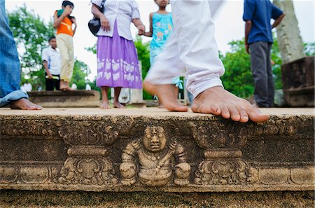 Carved steps detail, Mahasens Palace, Anuradhapura, UNESCO World Heritage Site, Sri Lanka, Asia Stock Photo - Rights-Managed, Code: 841-06806003
