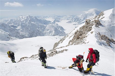 Climbing expedition on Mount McKinley, 6194m, Denali National Park, Alaska, United States of America, North America Stock Photo - Rights-Managed, Code: 841-06806081