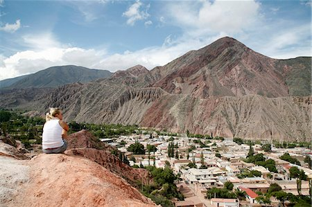 people in argentina - View over Purmamarca from the Camino de los Colorados trail, Quebrada de Humahuaca, UNESCO World Heritage Site, Jujuy Province, Argentina, South America Stock Photo - Rights-Managed, Code: 841-06806236