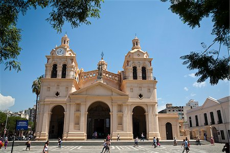 people in argentina - Iglesia Catedral at Plaza San Martin, Cordoba City, Cordoba Province, Argentina, South America, South America Stock Photo - Rights-Managed, Code: 841-06806246