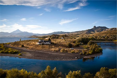 people in argentina - View over Lanin volcano and Lago Huechulafquen, Lanin National Park, Patagonia, Argentina, South America Stock Photo - Rights-Managed, Code: 841-06806261