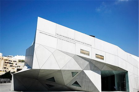 design (motif, artistic composition or finished product) - The new wing of Tel Aviv Museum of Arts, Israel, Middle East Stock Photo - Rights-Managed, Code: 841-06806294