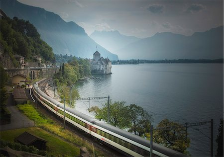The Castle of Chillon, on Lake Geneva, Montreux, Canton Vaud, Switzerland, Europe Stock Photo - Rights-Managed, Code: 841-06806475