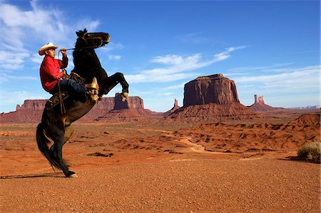 Adrian, last cowboy of Monument Valley, Utah, United States of America, North America Stock Photo - Rights-Managed, Code: 841-06807050