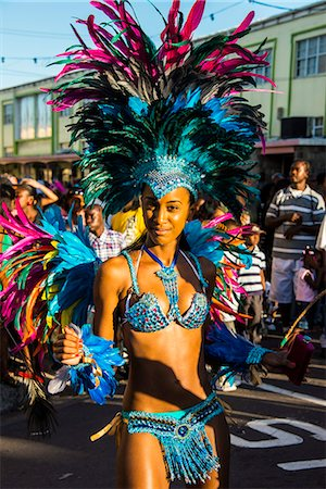 Carnival in Basseterre, St. Kitts, St. Kitts and Nevis, Leeward Islands, West Indies, Caribbean, Central America Stock Photo - Rights-Managed, Code: 841-06807299