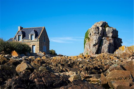 Pors Hir harbour, Cote de Granit Rose, Cotes d'Armor, Brittany, France, Europe Stock Photo - Rights-Managed, Code: 841-06807628