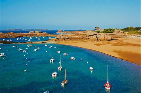 Beach of Tregastel, Cote de Granit Rose, Cotes d'Armor, Brittany, France, Europe Stock Photo - Rights-Managed, Code: 841-06807622