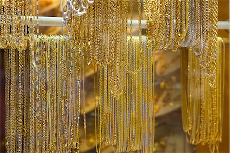 expensive jewelry - Gold in the Gold Souk, The Creek, Dubai, United Arab Emirates, Middle East Stock Photo - Rights-Managed, Code: 841-06807658