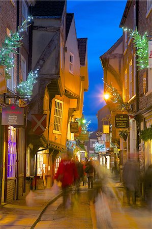 The Shambles at Christmas, York, Yorkshire, England, United Kingdom, Europe Stock Photo - Rights-Managed, Code: 841-06807699