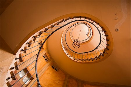 spiral - A spiral staircase in Galerie Vivienne, Paris, France, Europe Stock Photo - Rights-Managed, Code: 841-06807797
