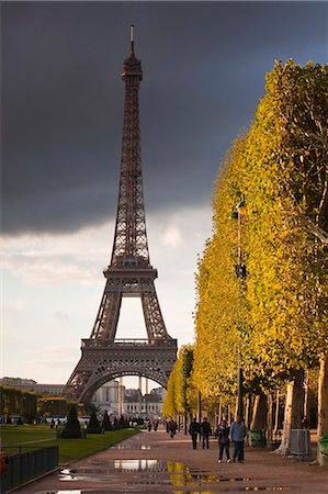 The Eiffel Tower from Champ de Mars, Paris, France, Europe Stock Photo - Rights-Managed, Code: 841-06807812