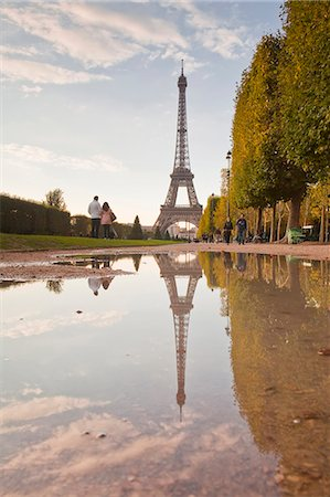 The Eiffel Tower from Champ de Mars, Paris, France, Europe Stock Photo - Rights-Managed, Code: 841-06807813