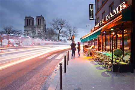 Tourists stop to photograph Notre Dame de Paris cathedral at dawn, Paris, France, Europe Stock Photo - Rights-Managed, Code: 841-06807828