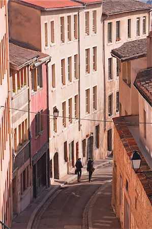 People walking through the old part of the city of Lyon, Lyon, Rhone-Alpes, France, Europe Stock Photo - Rights-Managed, Code: 841-07084222