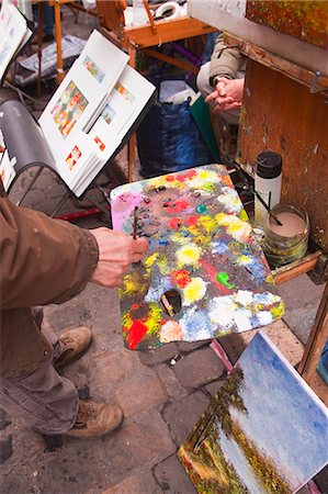A street artist at work in the famous Place du Tertre in Montmartre, Paris, France, Europe Stock Photo - Rights-Managed, Code: 841-07084257