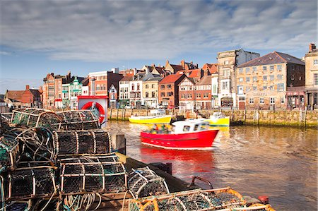 european - The seaside town of Whitby in the North York Moors National Park, Yorkshire, England, United Kingdom, Europe Stock Photo - Rights-Managed, Code: 841-07084310