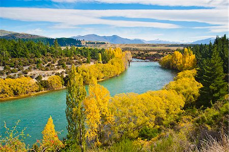 Caravan crossing a bridge on the Clutha River in autumn, Wanaka, South Island, New Zealand, Pacific Stock Photo - Rights-Managed, Code: 841-07080581