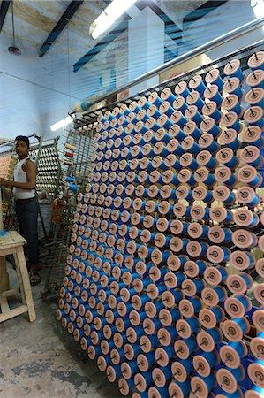 Silk threads in the looms, Varanasi, Uttar Pradesh, India, Asia Stock Photo - Rights-Managed, Code: 841-07080957