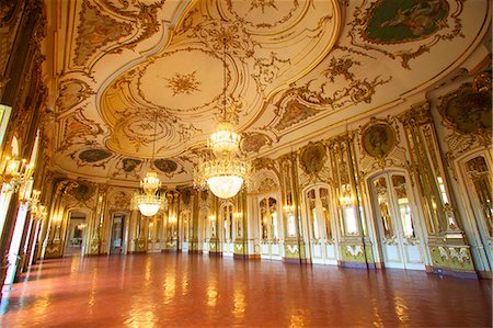 portugal - Ballroom, Palacio de Queluz, Lisbon, Portugal, Iberian Peninsula, South West Europe Stock Photo - Rights-Managed, Code: 841-07081030