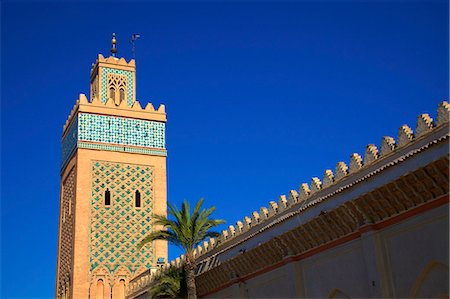 Kasbah Mosque, UNESCO World Heritage Site, Marrakech, Morocco, North Africa, Africa Stock Photo - Rights-Managed, Code: 841-07081094
